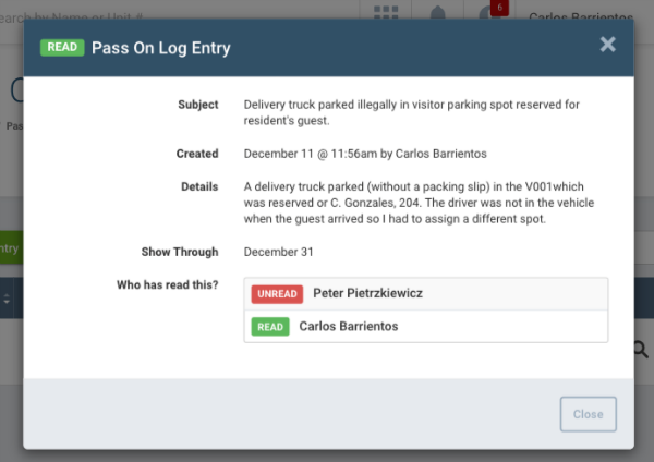 Pass-On-Logs screenshot