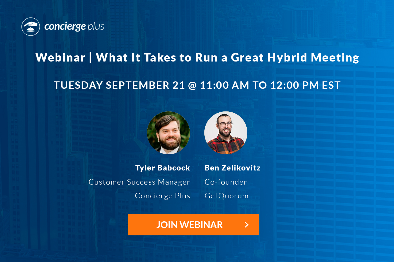 What It Takes to Run a Great Hybrid Meeting Webinar