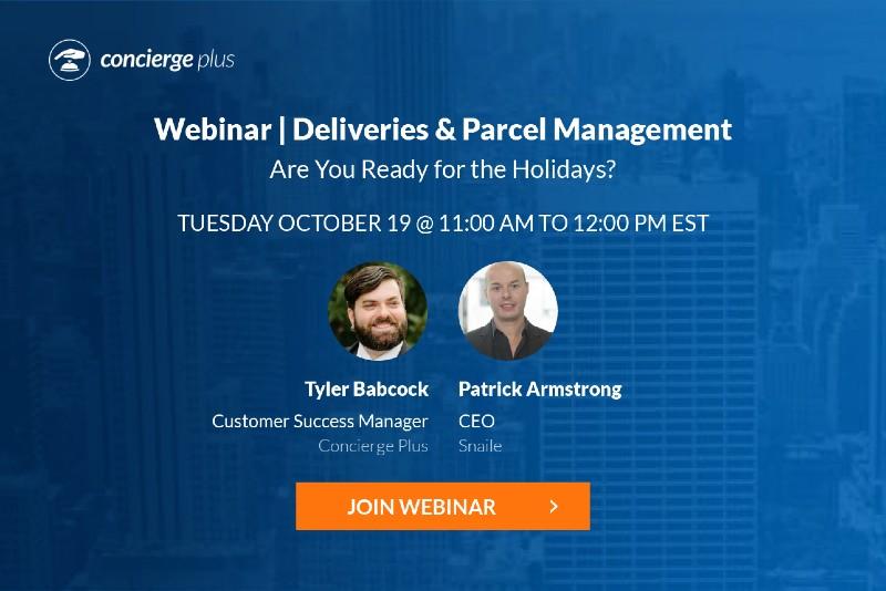 Webinar Deliveries & Parcel Management